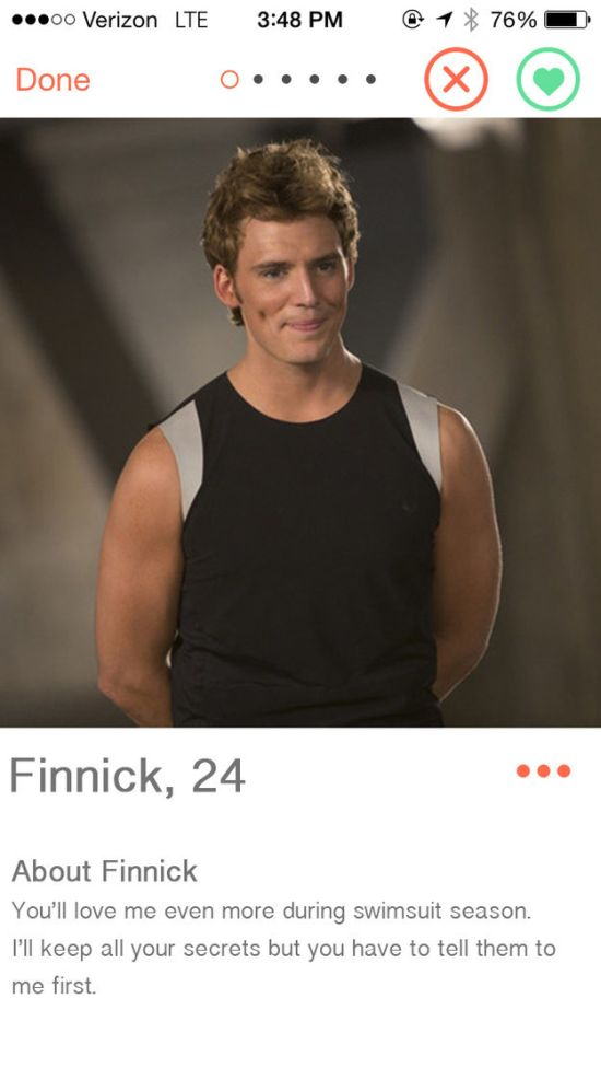 When Characters From The Hunger Games Get On Tinder