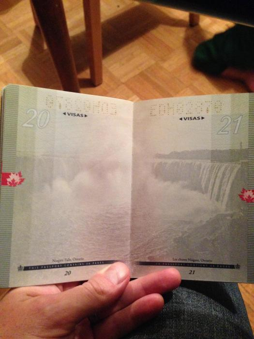 What The New Canadian Passport Looks Like Under A Black Light