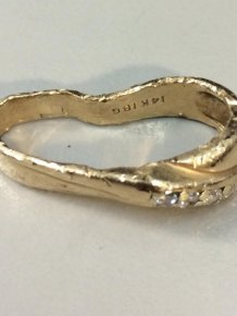 Wedding Ring Before And After Going Through A Garbage Disposal