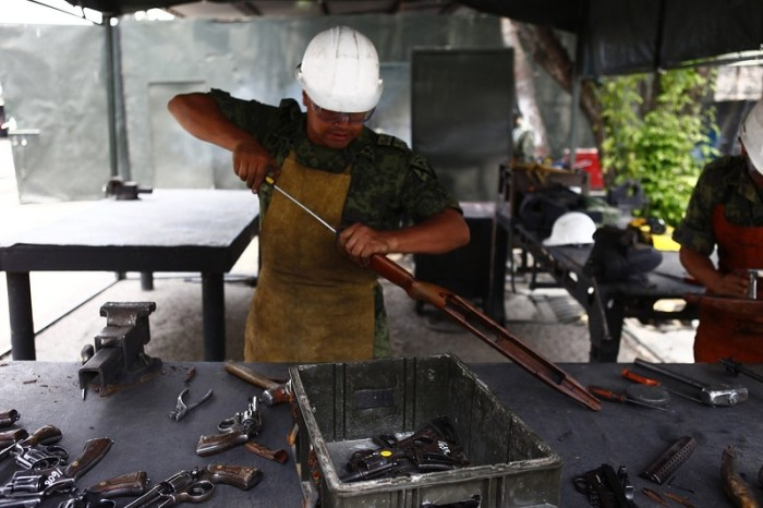 Citizens Hand Over Weapons In Mexico
