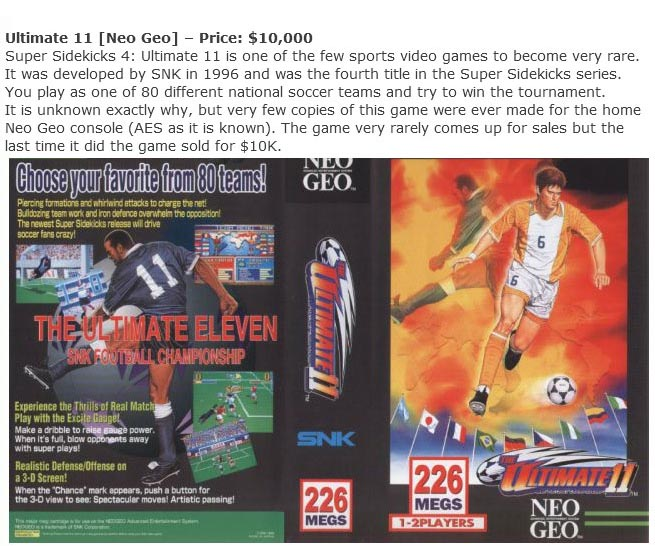 Rare Video Games That Are Worth A Small Fortune