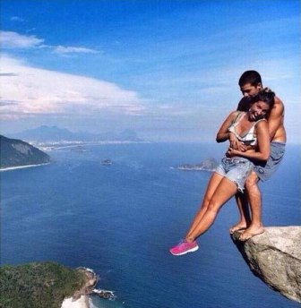 Insane Pictures On A Cliff