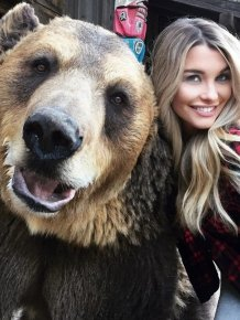 Emily Sears Takes A Selfie With A Special Guest