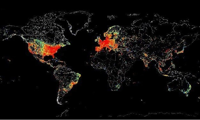 This Map Shows Internet Usage Around The World