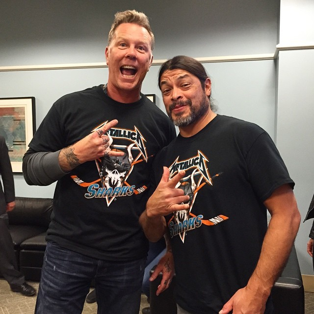 Metallica Hangs Out With The San Jose Sharks