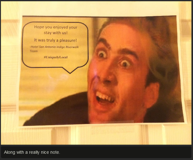 This Hotel Gives You A Healthy Dose Of Nicolas Cage