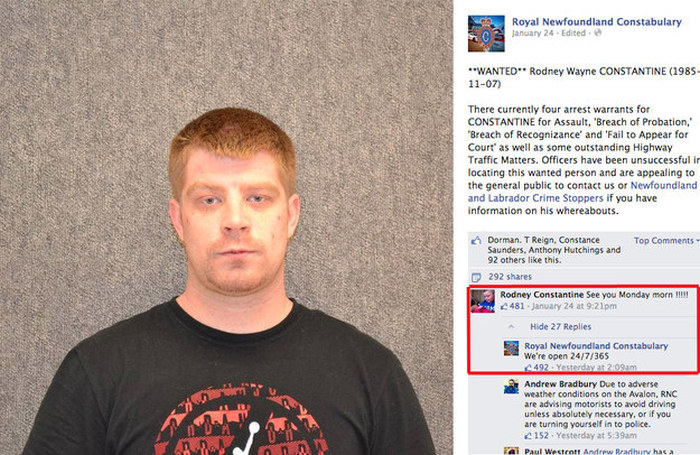 Wanted Man Turns Himself In On Facebook