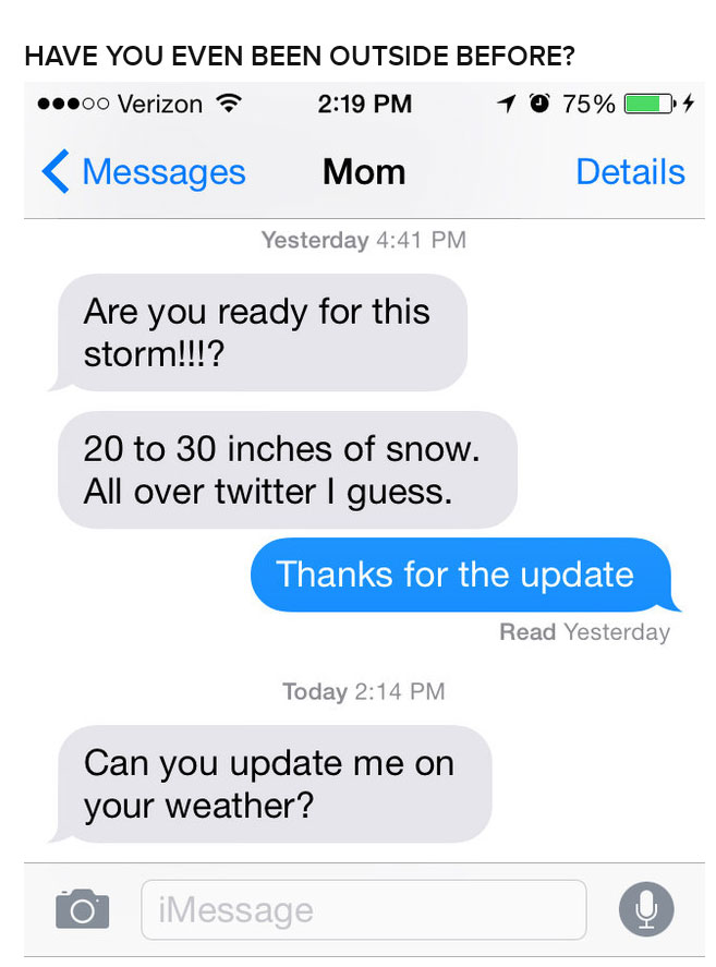 These Moms Are Taking This Big Snow Storm Very Seriously