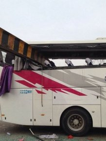 Bus Crash Costs This Vehicle Its Roof