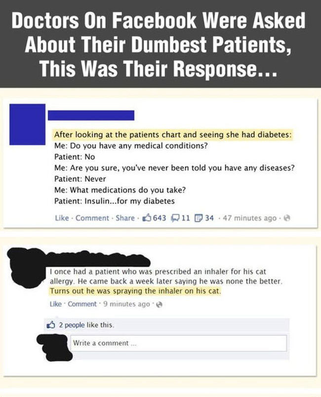 Doctors Reveal Their Dumbest Patients Ever