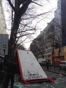 Five People Injured When London Bus Gets Roof Ripped Off By A Tree