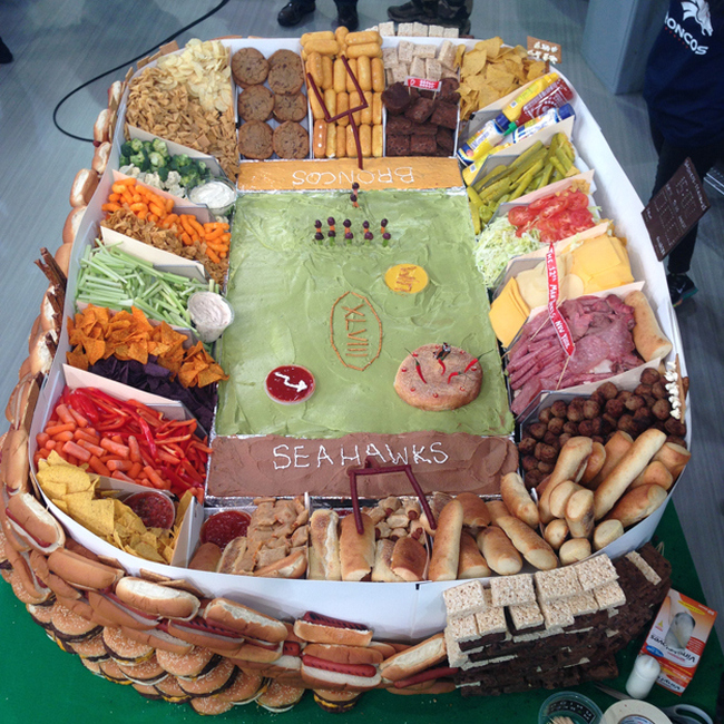 How To Build A Super Bowl Stadium Out Of Snacks