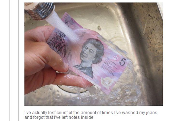 Canadian Money Is Waterproof