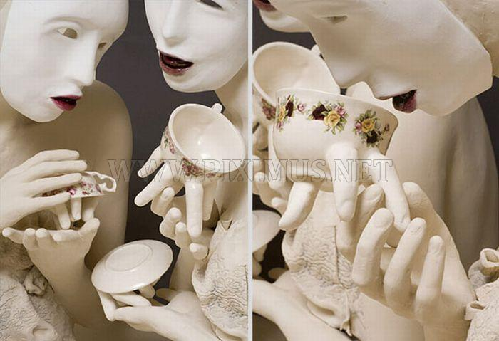 Creepy Tableware by Ronit Baranga