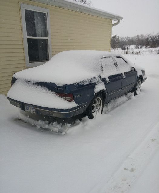 This Poor Guy Is Never Going To Get His Car Out