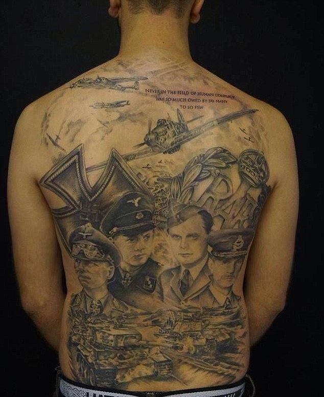 World War II Enthusiast Spends Six Months Getting His Back Tattooed