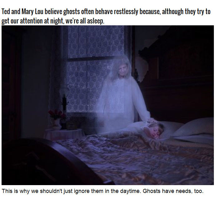 When It Comes To Ghosts This Couple Has Some Interesting Theories