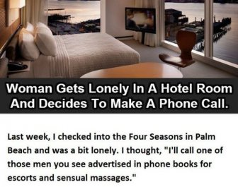 Woman Gets Lonely In A Hotel Room, What Happened Next Is Hilarious