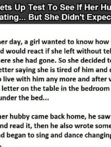 Wife Tries To Give Husband A Cheating Test And It Completely Backfires