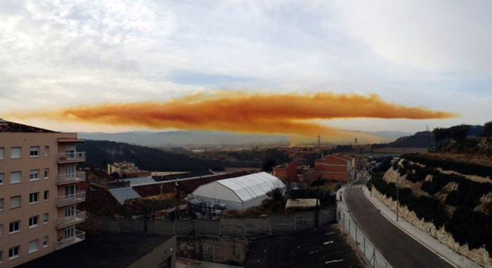 Chemical Plant Explosion Creates Toxic Orange Cloud