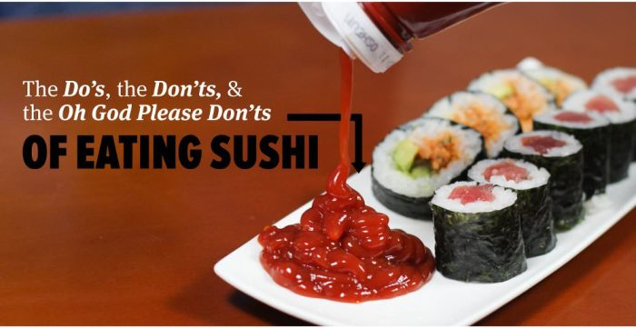 What You Should And Shouldn't Be Doing When You Eat Sushi
