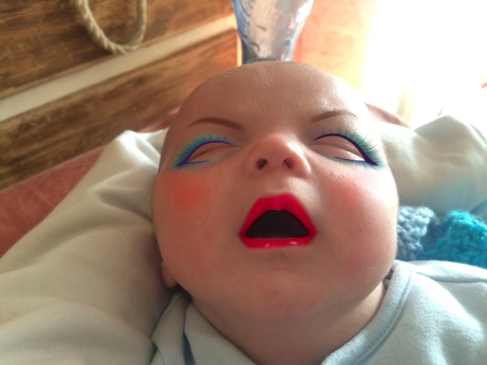 Mom Edits 7 Week Old Son's Photos With A Makeup App