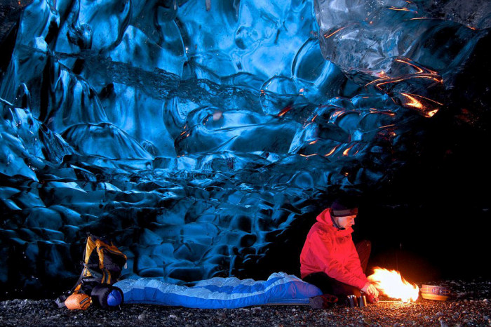 Inside Of Iceland's Giant Crystal Maze