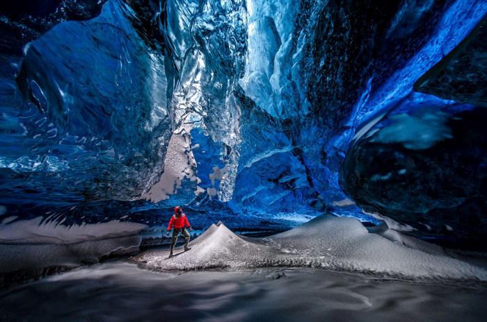 Inside Of Iceland's Giant Crystal Maze