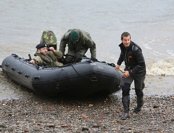 Bear Grylls Sure Knows How To Make An Entrance