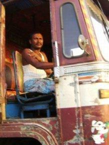 Indian truck drivers and machine operators