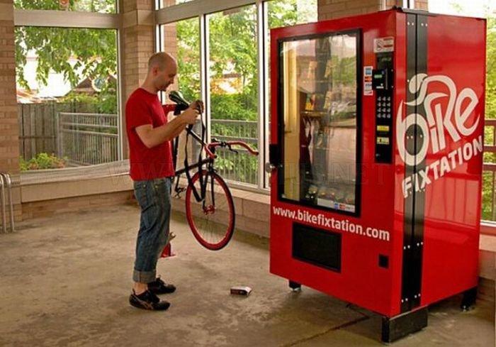 Self-Serve Bike Repair Vending Machine