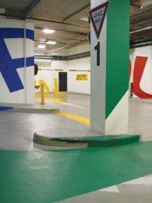 The Paint At Australia's Eureka Car Park Will Warp Your Brain