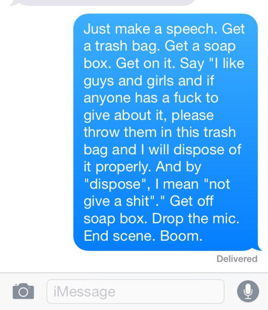 These People Came Out Of The Closet With Style Thanks To Text Messaging