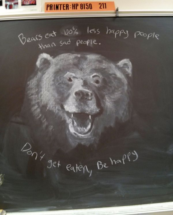 Teacher Uses Amazing Chalkboard Artwork To Inspire His Students