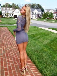 Hot girls in tight dresses