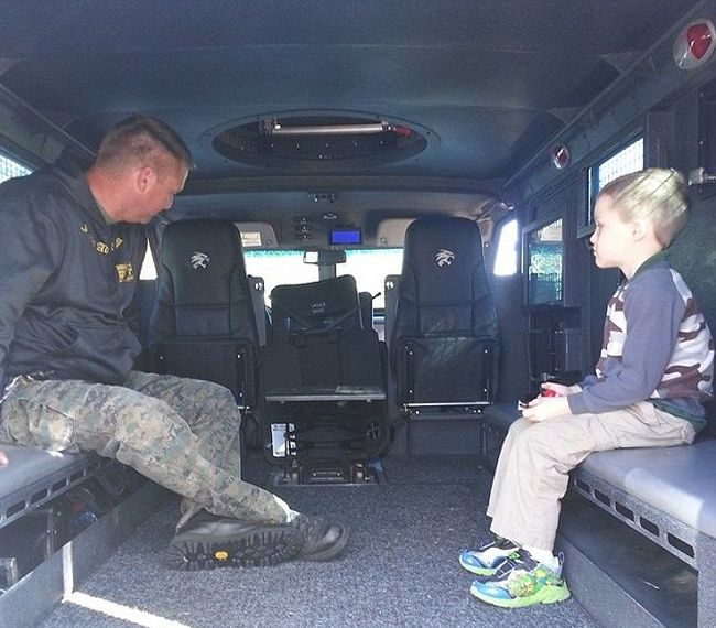 Police And Firefighters Come Out To Celebrate 6 Year Old's Birthday