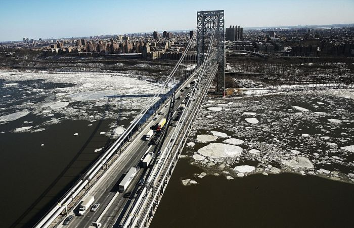 Amazing Aerial Views Show A Frozen New York City
