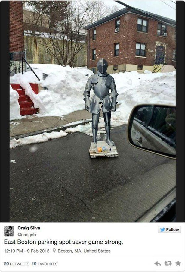 People In Boston Will Do Anything To Keep Their Parking Spots