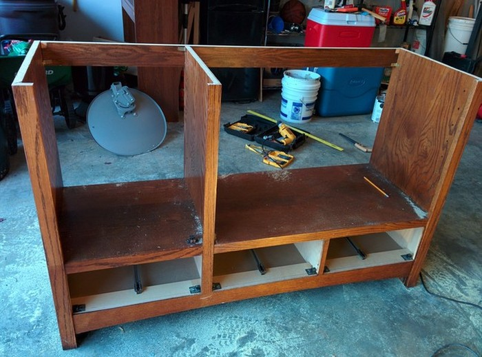 Old TV Cabinet Gets Transformed Into Something Much Cooler