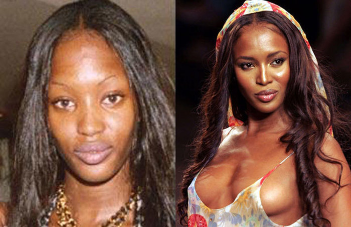 10 Famous Supermodels With And Without Makeup