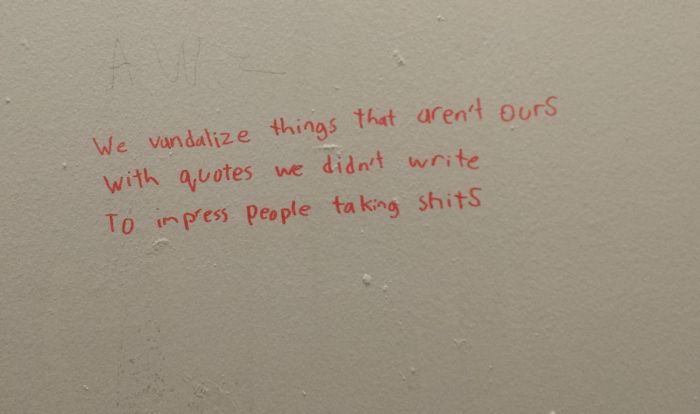 A Poetry Battle Went Down In The Bathroom