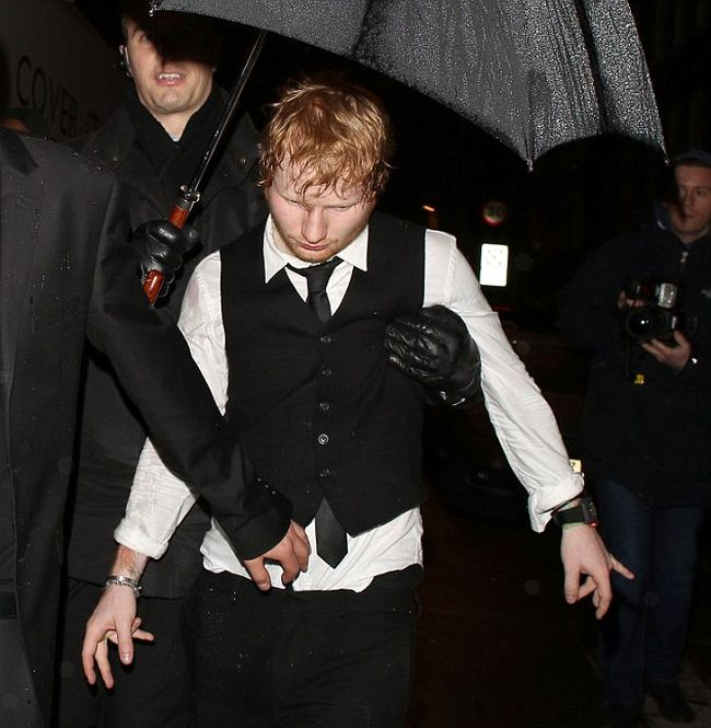 It Looks Like Ed Sheeran Partied A Little Too Hard After The BRIT Awards