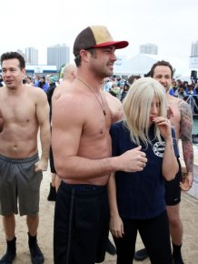 Lady Gaga Takes The Polar Plunge At Lake Michigan