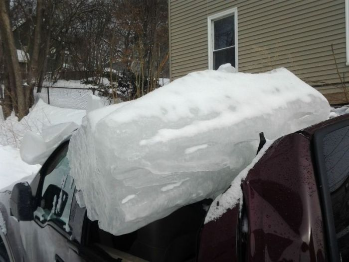 Truck Gets Destroyed By A Boston Winter Storm