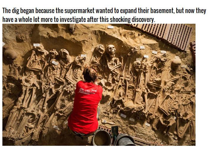 Researchers Find A Creepy Skeleton Stash Beneath A Supermarket