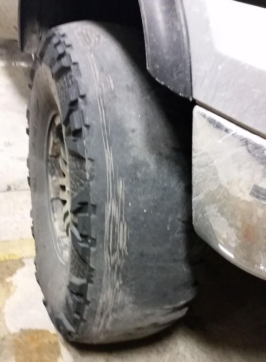 This Guy Definitely Needs Some New Tires