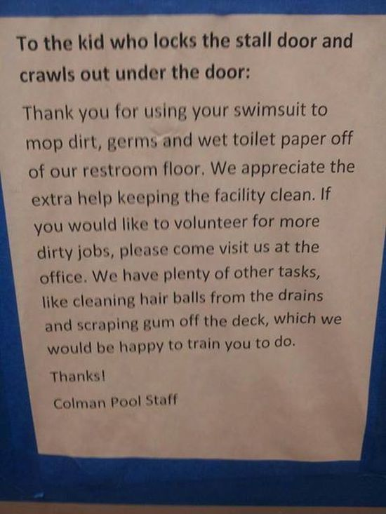 Passive Aggressive Notes You Would Only Find In The Bathroom