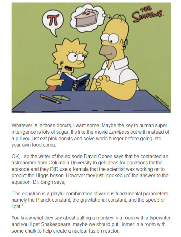 Did Homer Simpson Discover The Higgs Boson?