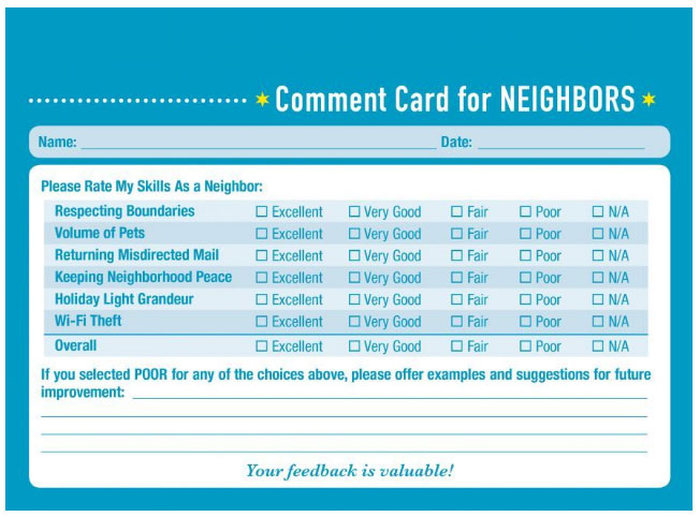 These Comment Cards Help You Score Your Personal Relationships