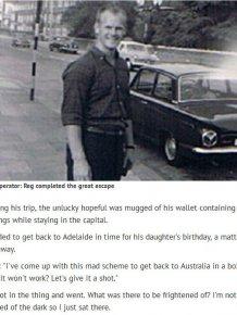 Javelin Thrower Reg Spiers Posts Himself From UK to Australia